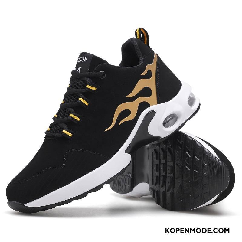 Sportschoenen Heren Mannen Basketbalschoenen Demping Casual Luchtkussen Mode Zwart