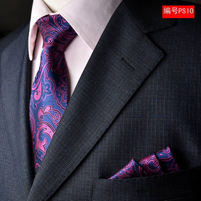 Stropdassen Heren Geklede Mannen Persoonlijkheid Business Roze