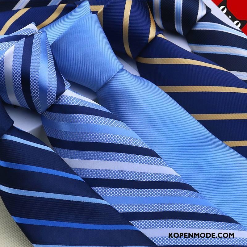 Stropdassen Heren Mannen Kleur Geklede Streep Business Zijde Blauw Zwart