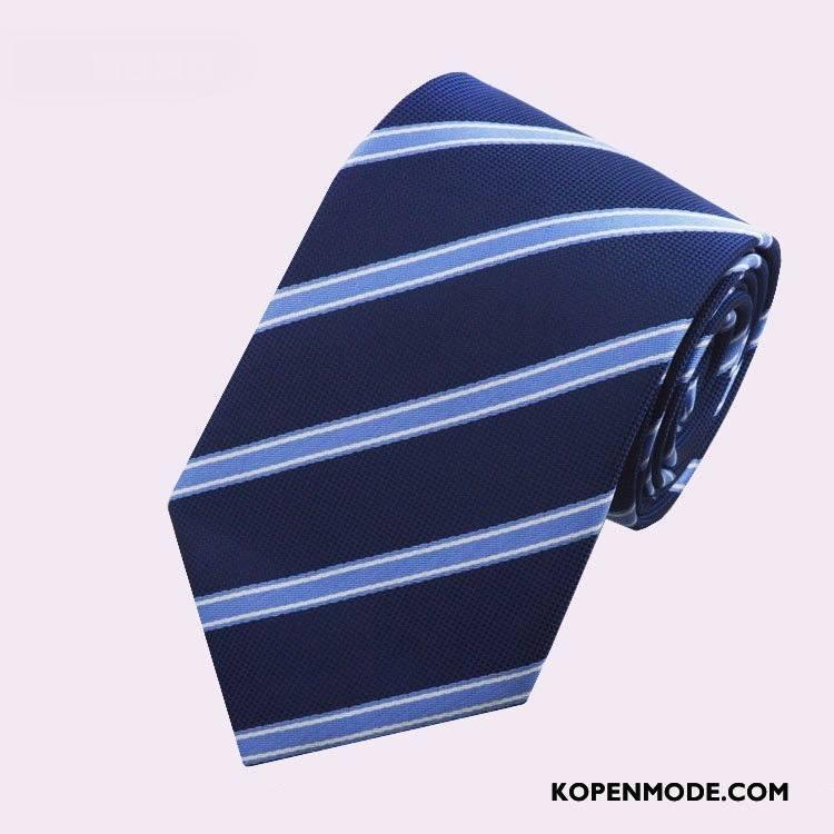 Stropdassen Heren Mode Nieuw Werk Business Mannen High End Blauw