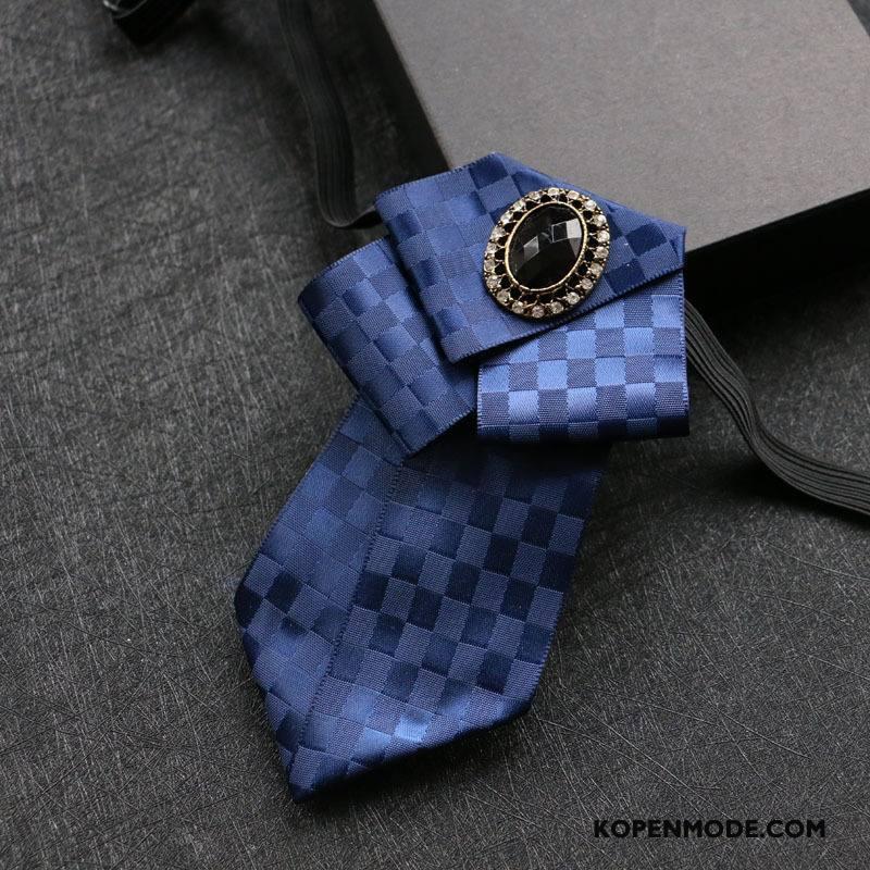 Stropdassen Heren Origineel High End Tonen Mode Trend Mannen Blauw
