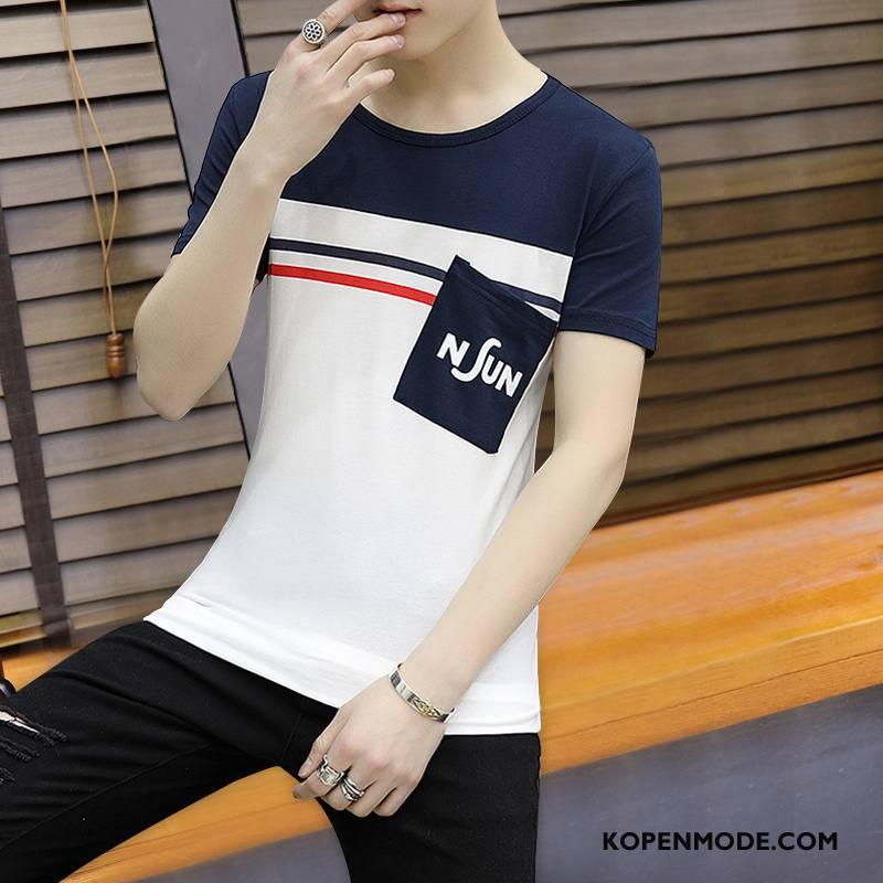 T-shirts Heren Korte Mouw Nieuw Wit
