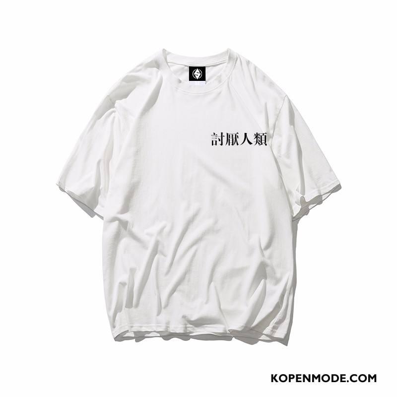 T-shirts Heren Korte Mouw Vrouwen Lovers Trend Mannen Wit