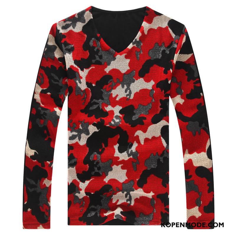 T-shirts Heren Mode Hoodie Bedrukken Slim Fit Jasje Pak Rood