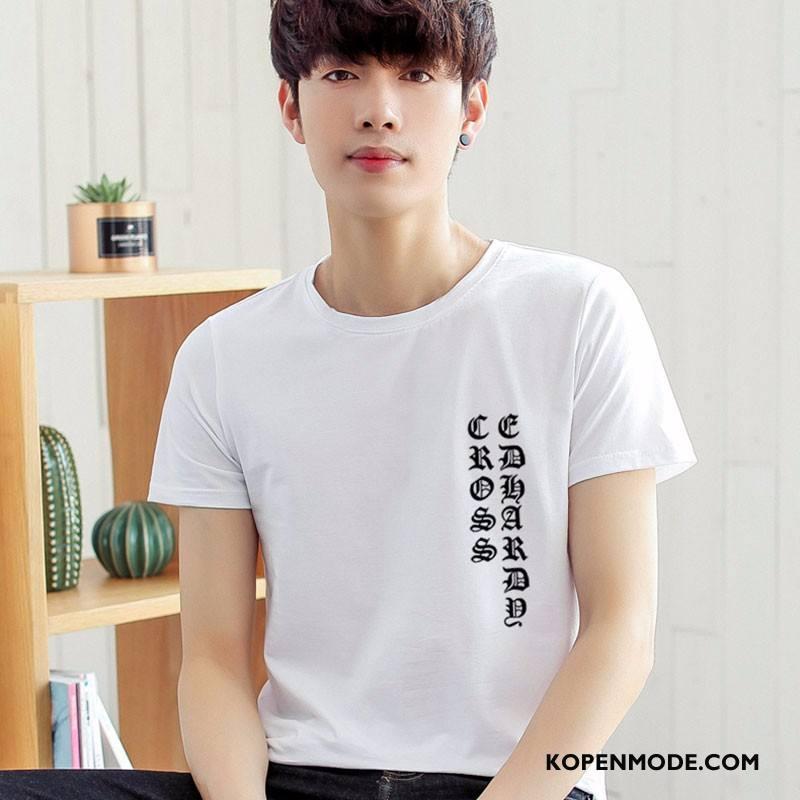 T-shirts Heren Mode Mannen Voorjaar Zomer Korte Mouw Nieuw Wit