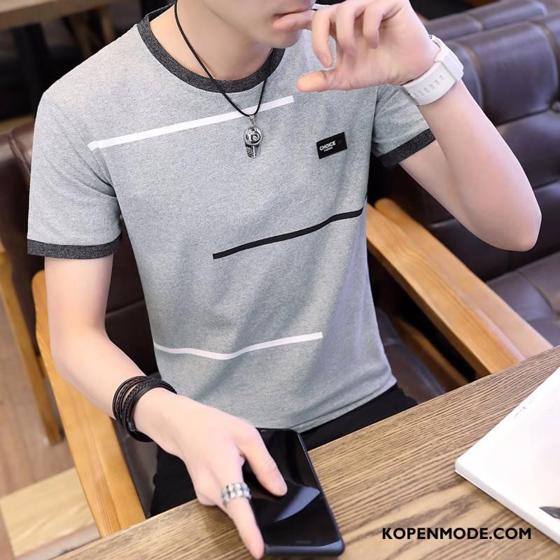 T-shirts Heren Nieuw Korte Mouw Zomer Mannen Halve Mouw Trend Grijs
