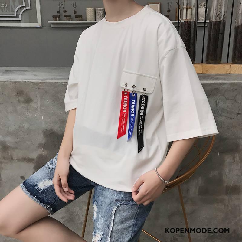 T-shirts Heren Nieuw Mannen Katoen Breien Wit