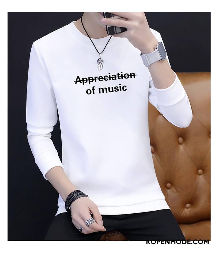 T-shirts Heren Warme Herfst Mode Nieuw 2018 Wit