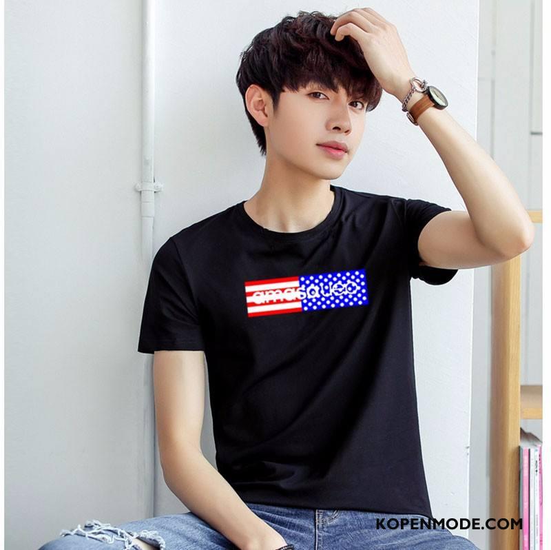 T-shirts Heren Zomer Mouw Mannen Nieuw Mode Korte Mouw Zwart