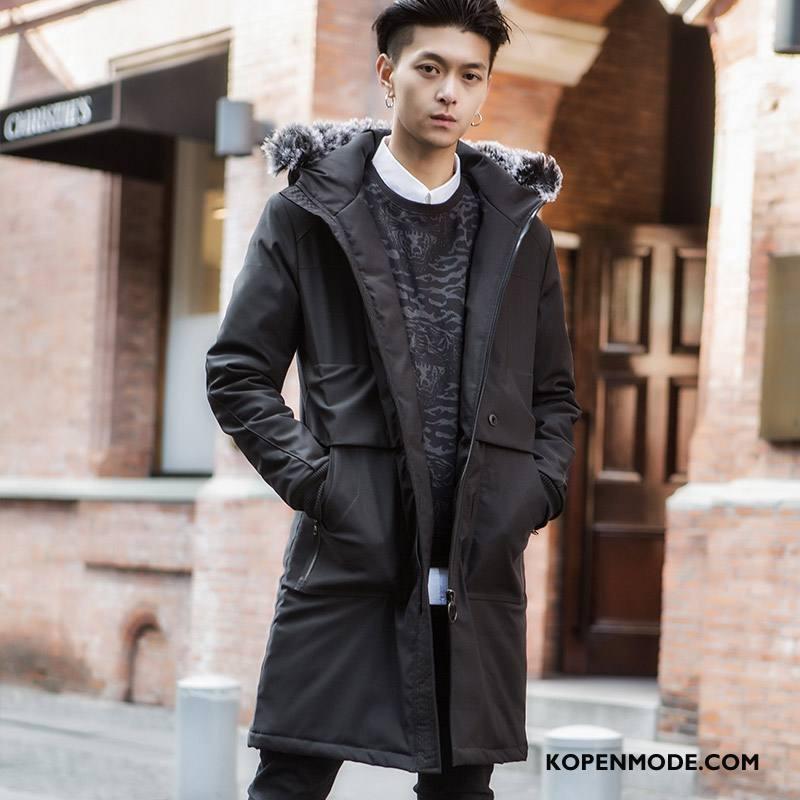 Trenchcoat Heren Trend Casual Kwaliteit Zwart