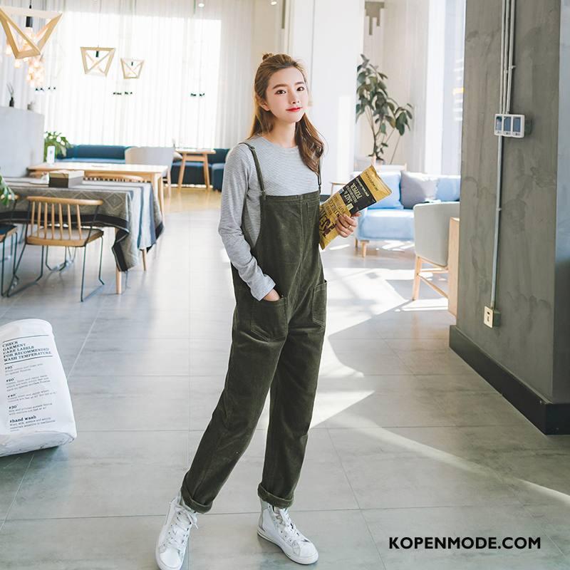 Tuinbroek Dames 2018 Elegante Met Riem Mode Casual Siamese Broek Legergroene Effen Kleur