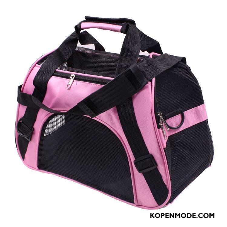 Wandelrugzak Dames Doek Waterdicht Tas Vouw Reizen Portable Roze Beige