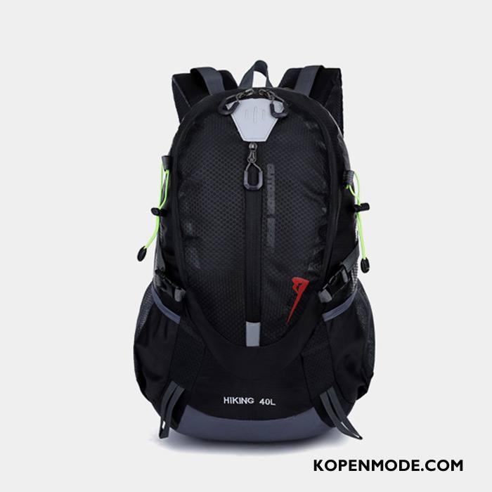 Wandelrugzak Dames Lichte Wandelen Camping Paardrijden Alpinisme Outdoor Zwart