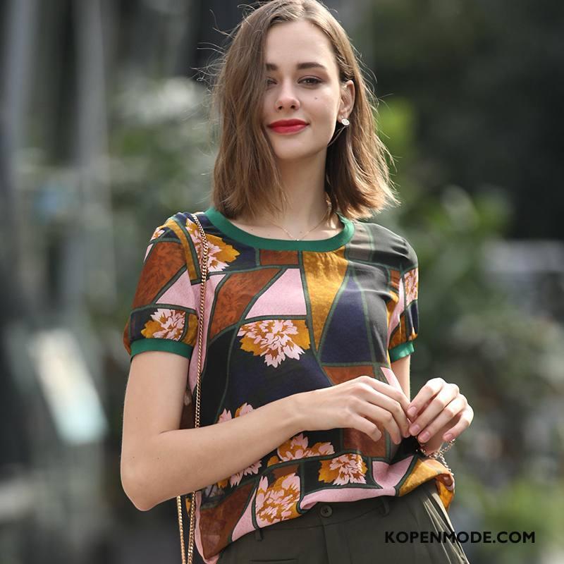 Zijden Jurk Dames Elegante Voorjaar Slim Fit Trend Dunne 2018 Marineblauw