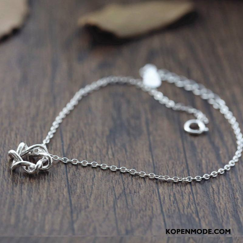 Zilveren Sieraden Dames Accessoires Mode Vrouwen Alle Wedstrijden Eenvoudig Kant Zilver