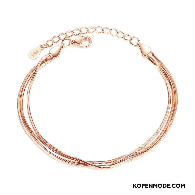 Zilveren Sieraden Dames Accessoires Mode Vrouwen Steranijs Armbanden Roze Zilver Goud