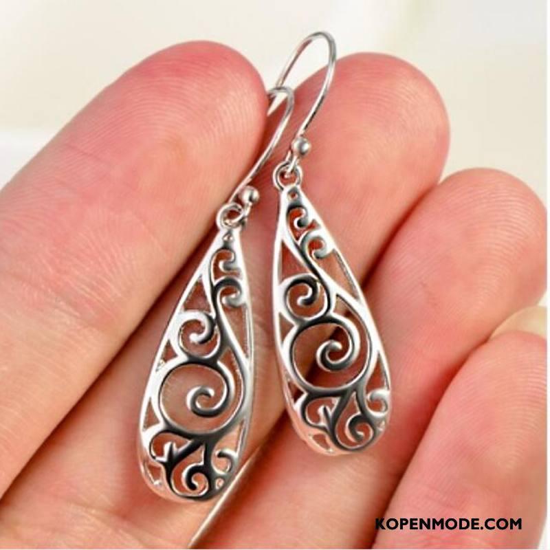Zilveren Sieraden Dames Accessoires Snijwerk Europa Zilver