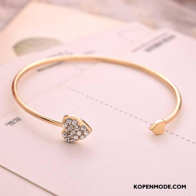 Zilveren Sieraden Dames Armbanden Hart Liefde Accessoires Goud