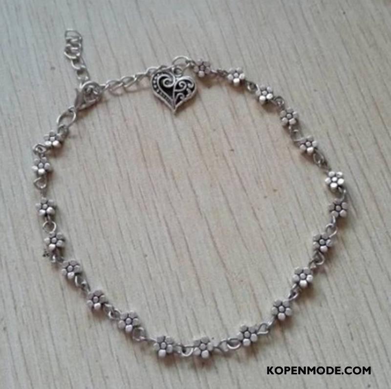 Zilveren Sieraden Dames Bloemen Hart Met De Hand Vintage Armbanden Zilver