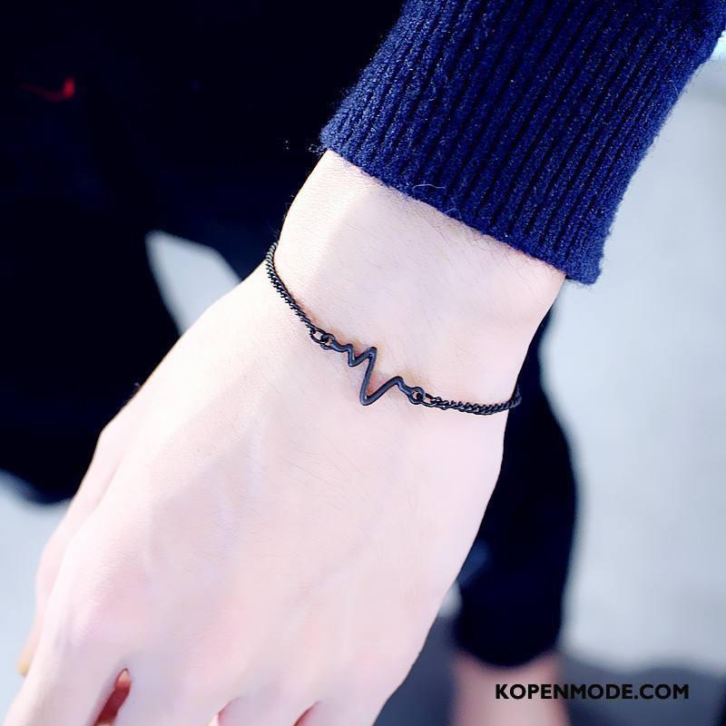 Zilveren Sieraden Dames Eenvoudig Vrouwen Armbanden Hart Nieuw Persoonlijkheid Gouden