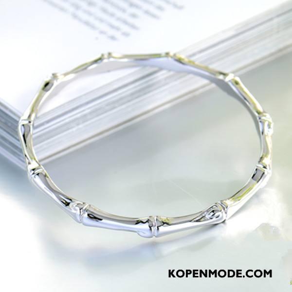 Zilveren Sieraden Dames Elegante Alle Wedstrijden Fijne Vrouwen Bamboe Mode Zilver