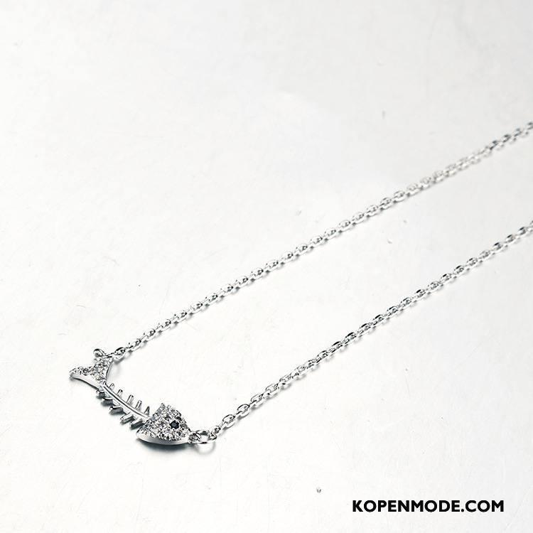 Zilveren Sieraden Dames Hanger Alle Wedstrijden Accessoires Vrouwen Stijl Elegante