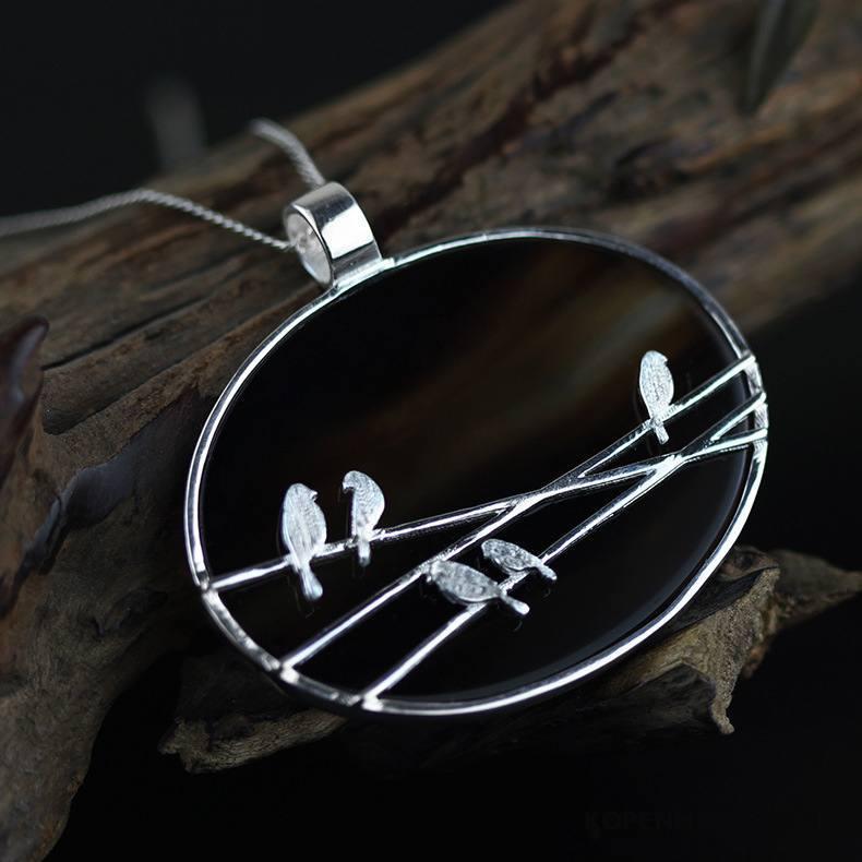 Zilveren Sieraden Dames Hanger Origineel Mini Kunst Accessoires Zuiver Zilver