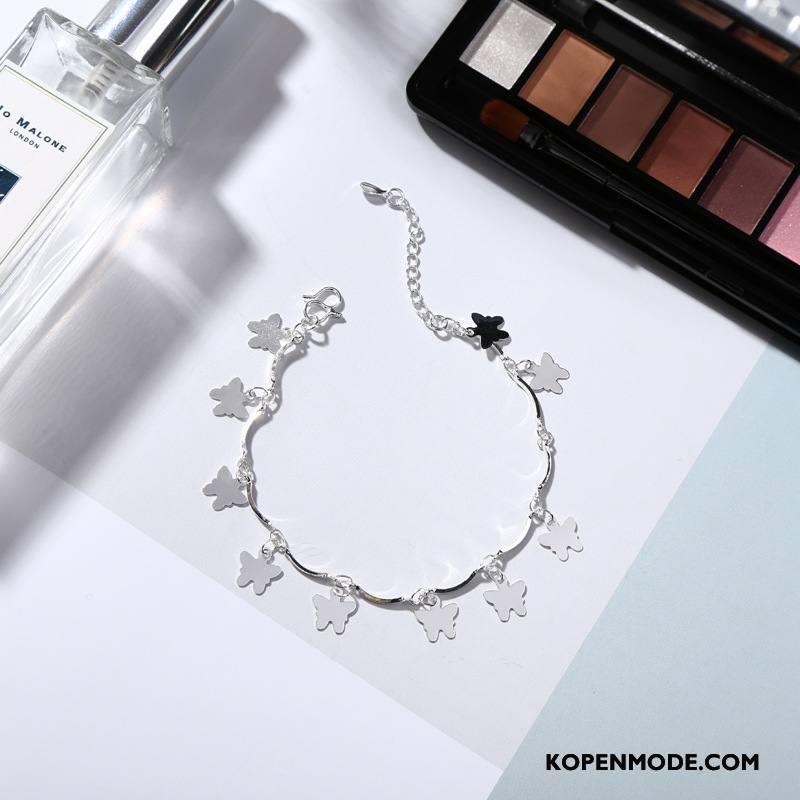 Zilveren Sieraden Dames Hart Mode Armbanden Mini Accessoires Liefde Zilver