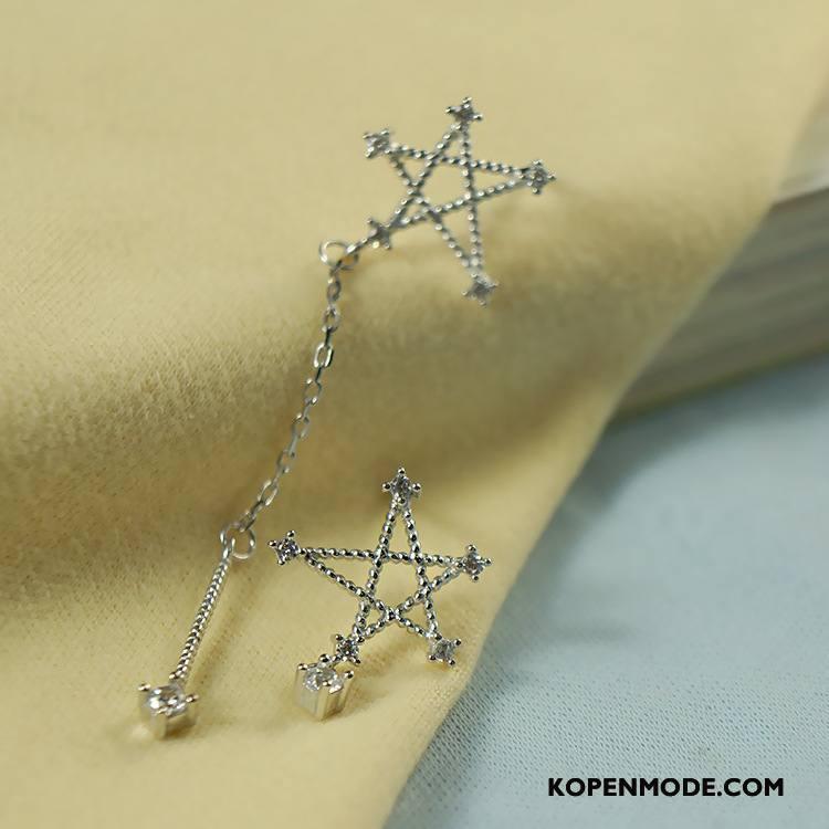 Zilveren Sieraden Dames Kant Elegante Lange Zuiver Vrouwen Zilver