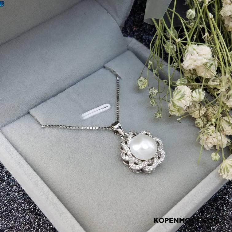 Zilveren Sieraden Dames Parel Zuiver Hanger Accessoires High End Alle Wedstrijden Zilver