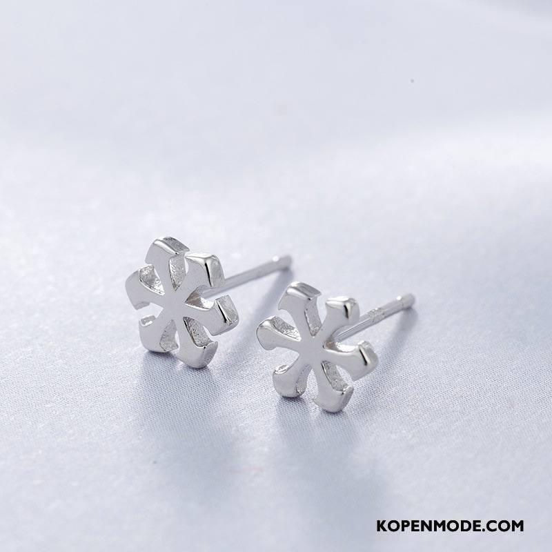 Zilveren Sieraden Dames Persoonlijkheid Eenvoudig Mode Sneeuwvlok Nieuw Mini Zilver