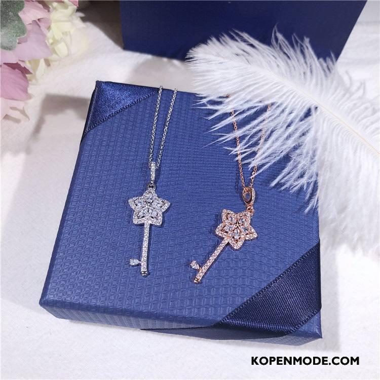 Zilveren Sieraden Dames Student Vers Bloemen Accessoires Eenvoudig Verjaardagscadeau Zilver