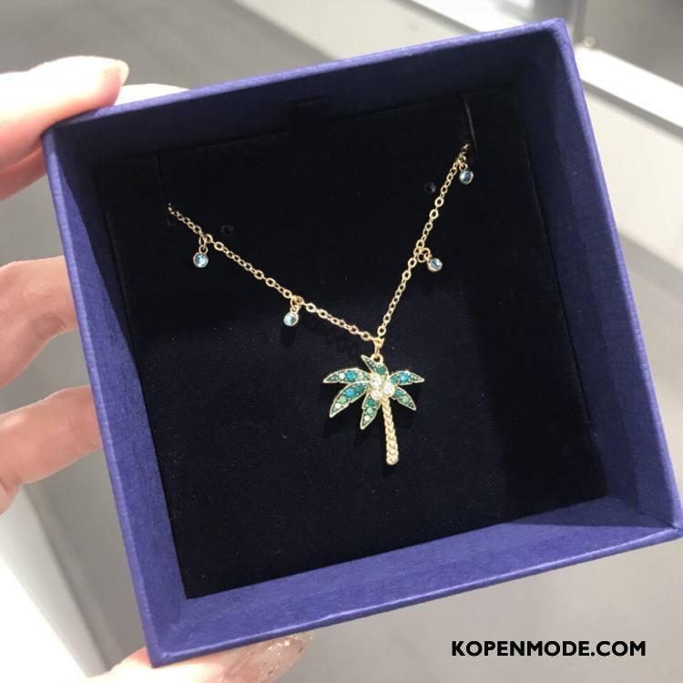 Zilveren Sieraden Dames Trend 2018 Vrouwen Hanger Bruine Gouden