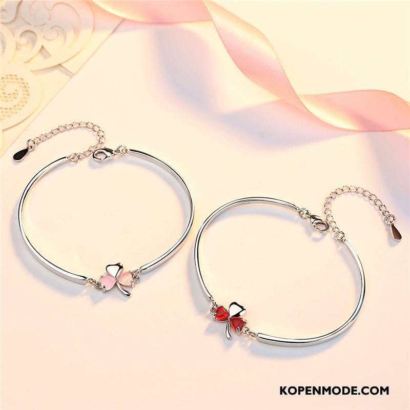 Zilveren Sieraden Dames Vrouwen Elegante Eenvoudig Armbanden Accessoires Schattig Zilver
