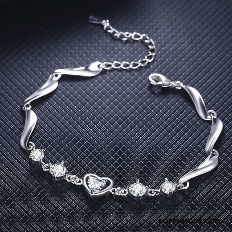 Zilveren Sieraden Dames Vrouwen High End Armbanden Hart Mode Lovers Zilver