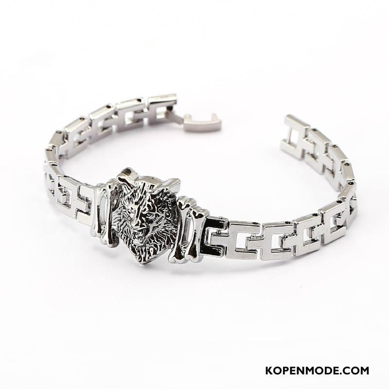 Zilveren Sieraden Heren Accessoires Armbanden Mannen Europa Vintage Zilver Goud