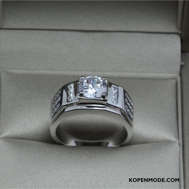 Zilveren Sieraden Heren Accessoires Zuiver Mannen Europa Luxe Hart Zilver