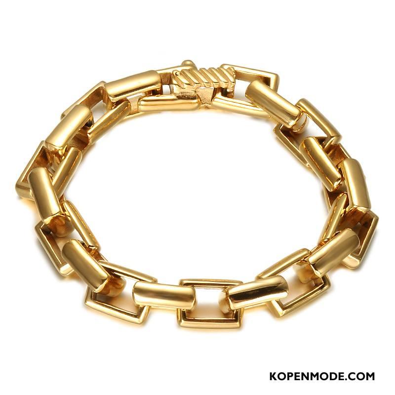 Zilveren Sieraden Heren Armbanden Trend Mannen Europa Gouden