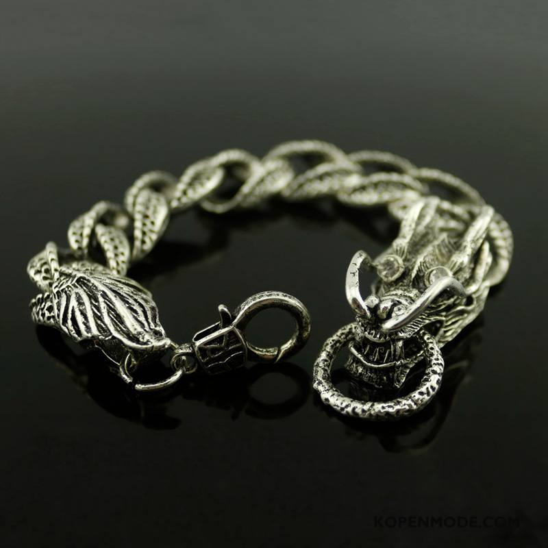 Zilveren Sieraden Heren Dragon Patroon Mode Scheppend Lovers Vrouwen Armbanden Zilver