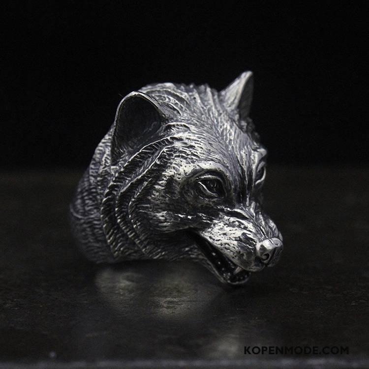 Zilveren Sieraden Heren Elegante Vintage Mannen Accessoires Persoonlijkheid Zilver