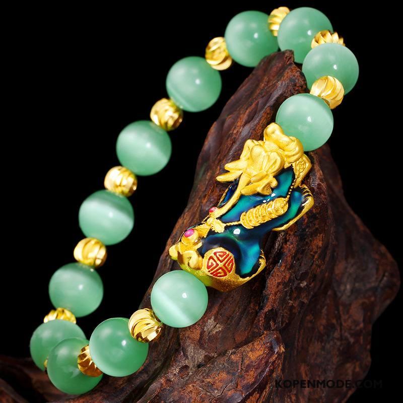Zilveren Sieraden Heren Kleurrijk Vrouwen Mannen Lovers Armbanden Zandkleur Gouden Groen