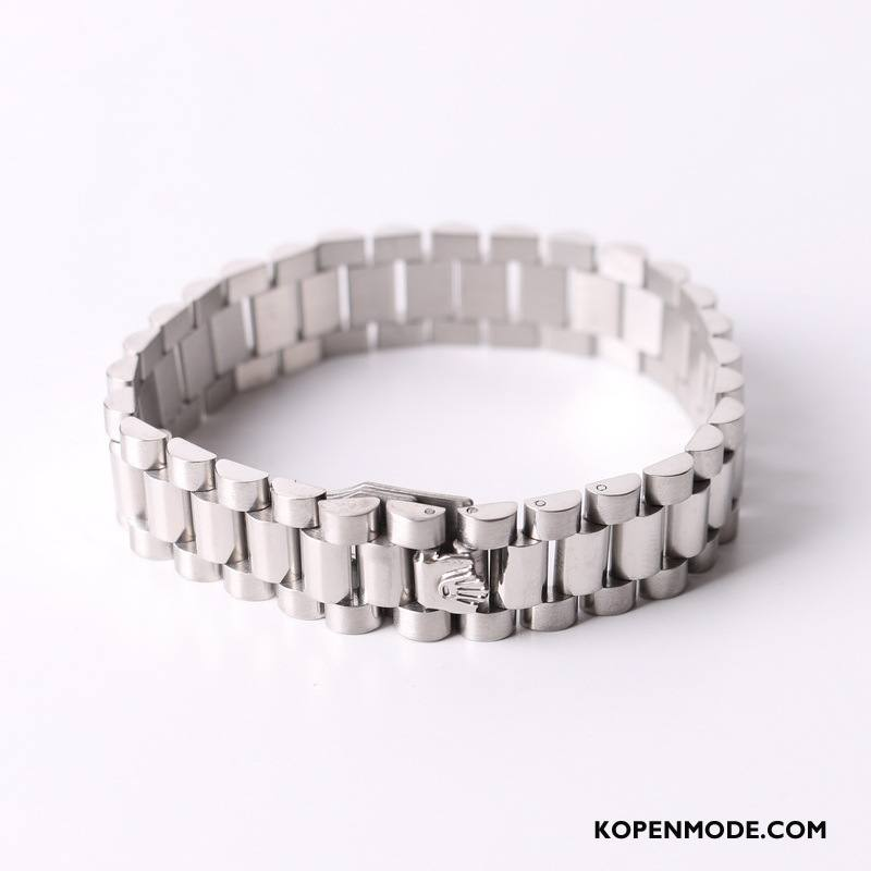 Zilveren Sieraden Heren Mannen Horloge Mooi Hart Europa Heet Zilver