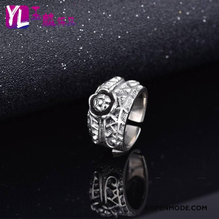 Zilveren Sieraden Heren Mannen Mode Elegante Verstelbaar Nieuw Accessoires Zilver