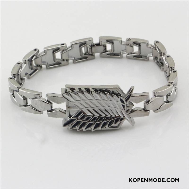 Zilveren Sieraden Heren Persoonlijkheid Horloge Cartoon Accessoires Mannen Armbanden Goud