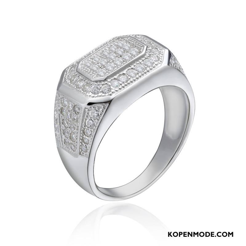 Zilveren Sieraden Heren Persoonlijkheid Zuiver Mannen Accessoires Elegante Zilver