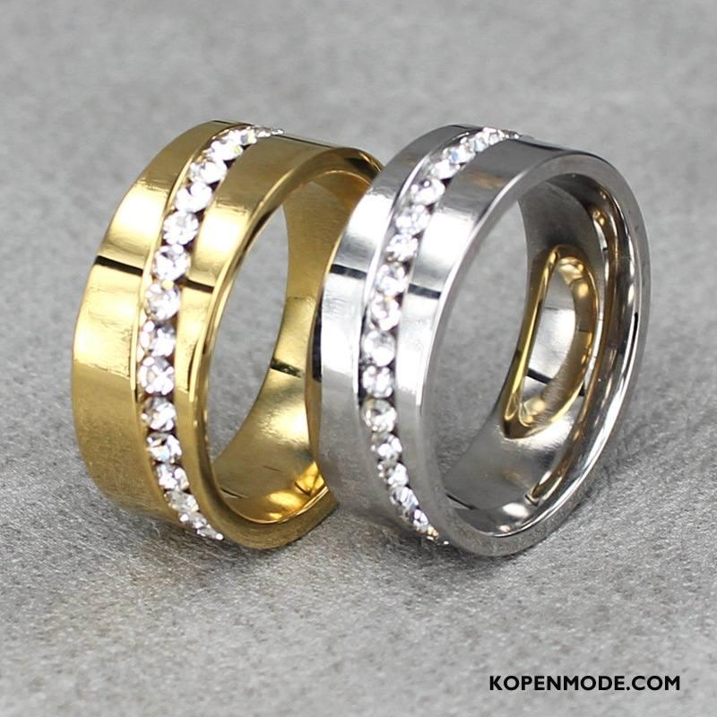 Zilveren Sieraden Heren Strass Trend Mannen Heet Accessoires Europa