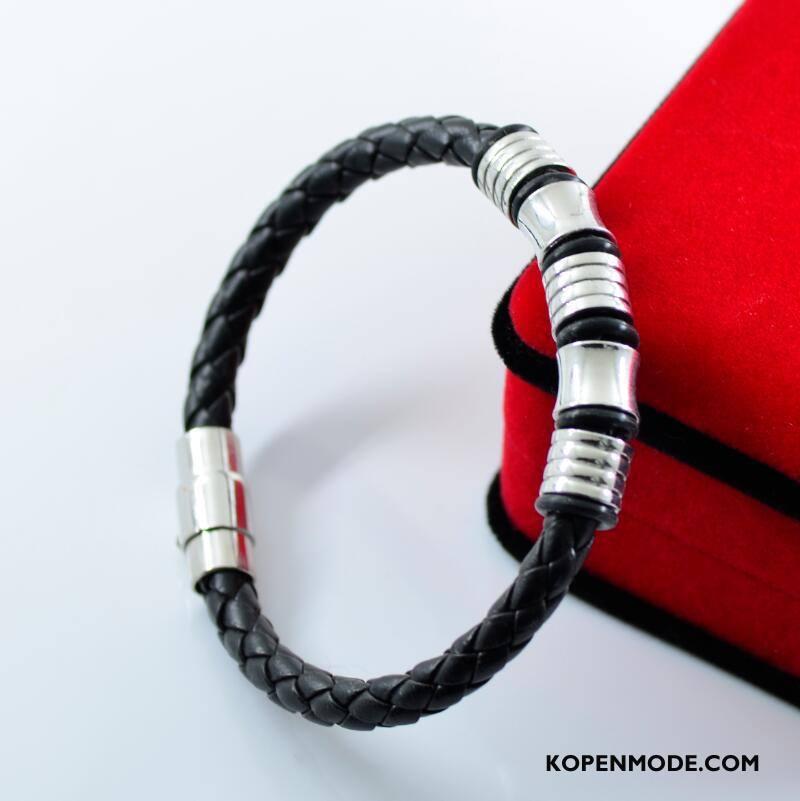Zilveren Sieraden Heren Trend Nieuw Eenvoudig Armbanden Mannen Persoonlijkheid