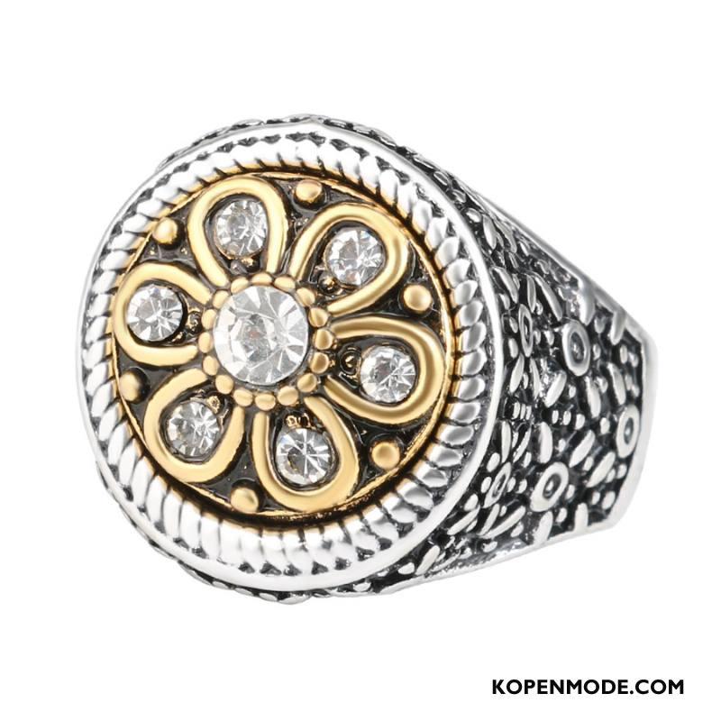Zilveren Sieraden Heren Vintage Mannen Strass Europa Elegante Accessoires Zilver