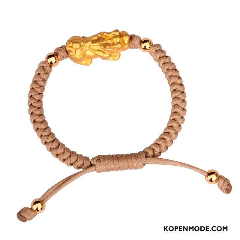 Zilveren Sieraden Heren Weven Dragon Patroon Trend Armbanden Mannen Nieuw Zilver Gouden