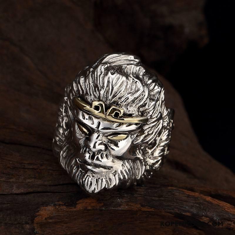 Zilveren Sieraden Heren Zuiver Mannen Groot Persoonlijkheid Vintage Zilver